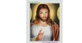 Tranh đính đá LV043 Đức Chúa Giesu 60x72