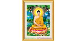 Tranh đính đá LV047 Phật Thích Ca Mâu Ni 50x65