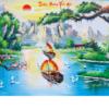 Tranh đính đá LV064 Thuận buồm xuôi gió 130x65