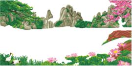 Vị trí đính đá tranh đính đá Lavender LV145