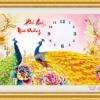 Tranh đính đá LV163 Đồng hồ Phú quý mãn đường 88x46