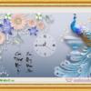 Tranh đính đá LV190 Đồng hồ Phú quý cát tường 68x45