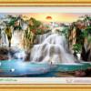 Tranh đính đá LV197 Lưu thủy sinh tài 115x75