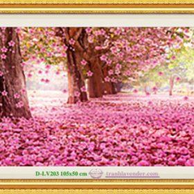 Tranh đính đá LV203 Vườn tình yêu 105x50