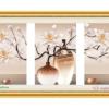 Tranh đính đá LV223 Bình hoa nghệ thuật 146x70
