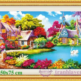 1Tranh đính đá LV241 Gia đình hạnh phúc 150x75