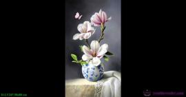 Tranh đính đá LV247 Bình hoa khoe sắc 50x80