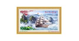 Tranh đính đá LV264 Thuận buồm xuôi gió 130x75