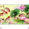 Tranh đính đá Cửu ngư quần hội LV275 Lavender 130x62
