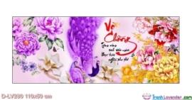 Tranh đính đá Vợ chồng LV280 Lavender 110x50