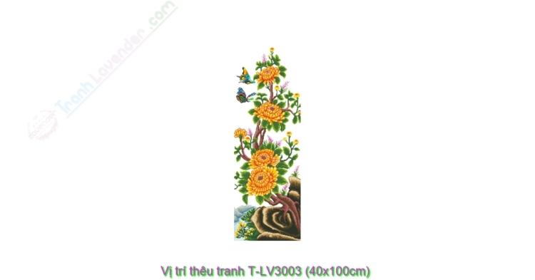 Vị trí thêu tranh thêu chữ thập LV3003