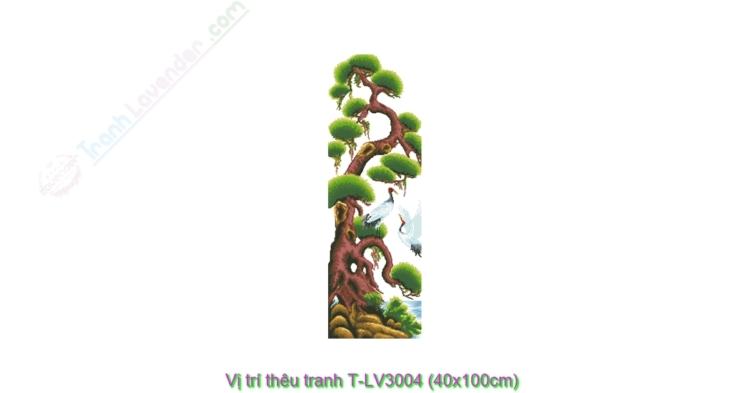 Vị trí thêu tranh thêu chữ thập LV3004