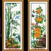 Tranh thêu chữ thập Lavender LV3001 LV3002 LV3003 LV3004 Tứ quý Xuân Hạ Thu Đông 160x100