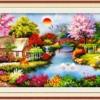 Tranh thêu chữ thập Lavender LV3008 Mùa xuân ấm áp 132x62