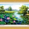 Tranh thêu chữ thập Lavender LV3017 Đầm sen 124x64