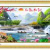 Tranh thêu chữ thập Lavender LV3024 Sơn thủy hữu tình 132x58