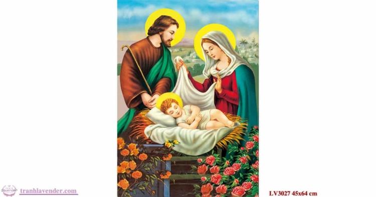 Tranh thêu chữ thập Lavender LV3027 Chúa gia 45x64