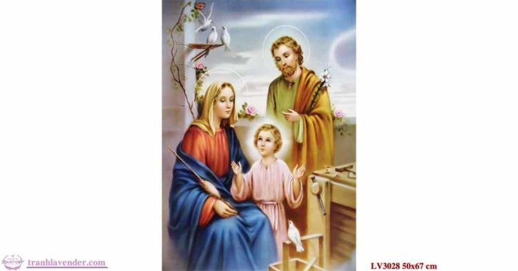 Tranh thêu chữ thập Lavender LV3028 Chúa gia 50x67