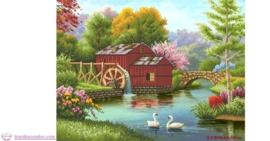 Tranh thêu chữ thập Lavender LV3030 Ngôi nhà hạnh phúc 65x50