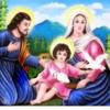 Tranh thêu chữ thập Lavender LV3039 Gia đình Chúa 84x47