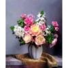 Tranh thêu chữ thập Lavender LV3047 Lọ hoa hồng 50x59