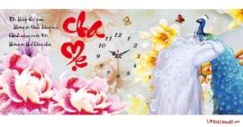 Tranh thêu chữ thập Lavender LV3052 Đồng hồ Cha mẹ 86x43Tranh thêu chữ thập Lavender LV3052 Đồng hồ Cha mẹ 86x43