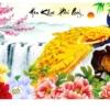 Tranh thêu chữ thập Lavender LV3054 Hoa khai phú quý 100x51