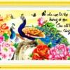 Tranh thêu chữ thập Lavender LV3108 Cha mẹ 75x42