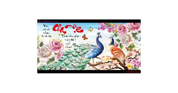 Tranh thêu chữ thập Lavender LV3160 Cha mẹ 83x43