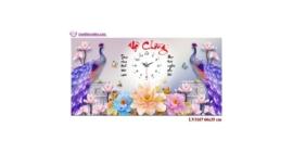 Tranh thêu chữ thập Lavender LV3167 Đồng hồ Vợ chồng 66x35