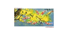 Tranh thêu chữ thập Lavender LV3173 Cửu ngư quần hội 83x44