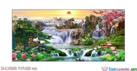 Tranh đính đá Sơn thủy hữu tình LV288 Lavender 117x62