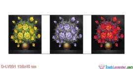 Tranh đính đá Biến tấu sắc hoa LV291 Lavender 135x45