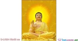 Tranh đính đá Phật tổ Như Lai LV294 Lavender 50x55