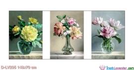 Tranh đính đá Vũ khúc hoa và bình LV295 Lavender 148x70