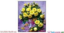 Tranh đính đá Hoa hồng vàng LV298 Lavender 50x60