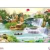 Tranh đính đá Lưu thủy sinh tài LV301 Lavender 200x95