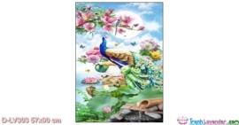 Tranh đính đá Uyên ương thưởng nhật LV303 Lavender 57x90