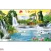 Tranh đính đá Lưu thủy sinh tài LV304 Lavender 150x75