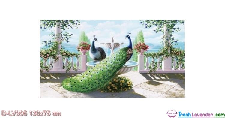 Tranh đính đá Hạnh phúc viên mãn LV305 Lavender 130x75