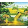Tranh đính đá Thôn quê mùa Hạ LV310 Lavender 145x75
