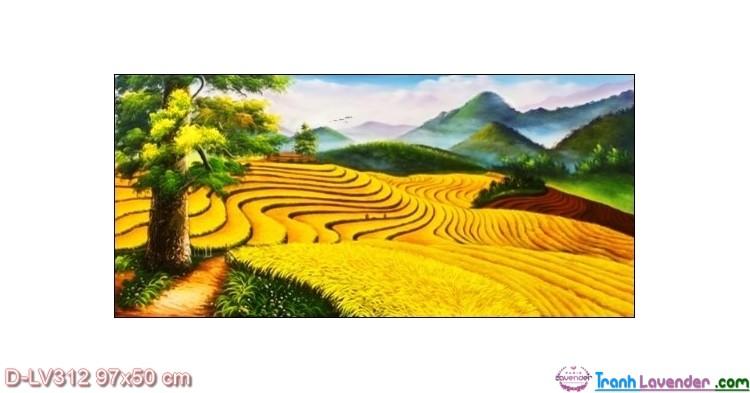 Tranh đính đá Nấc Thang Thiên Đường LV312 Lavender 97x50