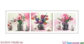 Tranh đính đá Bình hoa khoe sắc LV314 Lavender 148x50