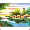 Tranh đính đá Hạnh phúc bình yên LV315 Lavender 90x52