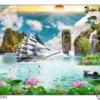 Tranh đính đá Thuận buồm xuôi gió LV324 Lavender 125x75