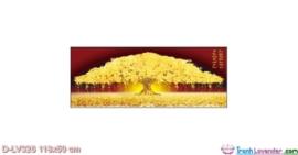 Tranh đính đá Cây Tiền Vàng Giàu Sang Phú Quý LV326 Lavender 118x50