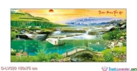 Tranh đính đá Thuận buồm xuôi gió LV329 Lavender 150x75