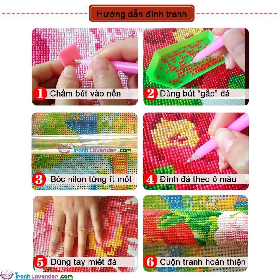 Hướng dẫn cách làm tranh đính đá trong 6 bước