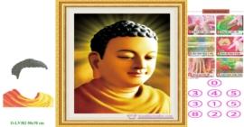 Tranh đính đá Phật Tổ Như Lai LV382 kích thước lớn nhỏ 50x70 cm