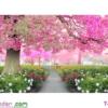 [T-LV3119] Tranh thêu chữ thập Khu vườn hạnh phúc (kích thước nhỏ 84x51cm)